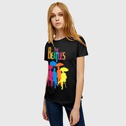 Футболка женская The Beatles: Colour Rain цвета 3D-принт — фото 2
