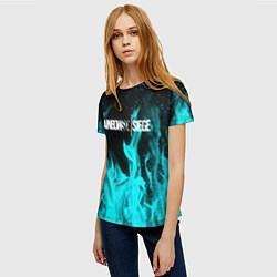 Футболка женская R6S: Turquoise Flame цвета 3D — фото 2