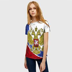 Футболка женская Российская душа цвета 3D — фото 2