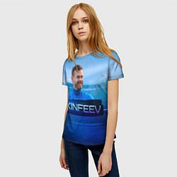 Футболка женская Akinfeev цвета 3D-принт — фото 2