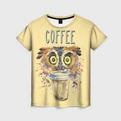 Футболка женская Owls like coffee цвета 3D — фото 1
