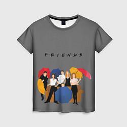 Футболка женская Friends with Umbrellas цвета 3D — фото 1