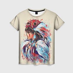 Футболка женская Princess Mononoke цвета 3D — фото 1
