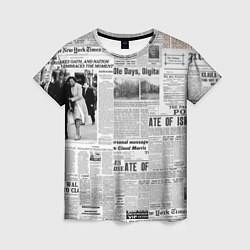 Футболка женская Газета Newspaper цвета 3D — фото 1