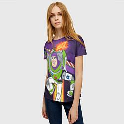Футболка женская Buzz Lightyear цвета 3D-принт — фото 2