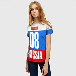 Футболка женская Russia: from 08 цвета 3D — фото 2