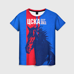 Футболка женская ЦСКА ФК цвета 3D — фото 1