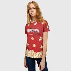 Футболка женская Popcorn цвета 3D — фото 2