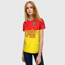 Футболка женская Сборная Испании: Евро 2016 цвета 3D — фото 2