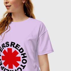 Футболка оверсайз женская Red Hot Chili Peppers цвета лаванда — фото 2