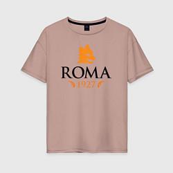 Футболка оверсайз женская AS Roma 1927 цвета пыльно-розовый — фото 1