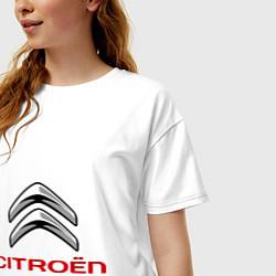 Футболка оверсайз женская Citroen цвета белый — фото 2