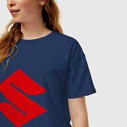 Футболка оверсайз женская Suzuki цвета тёмно-синий — фото 2