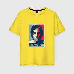 Футболка оверсайз женская Lennon Imagine цвета желтый — фото 1