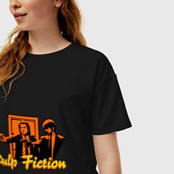 Футболка оверсайз женская Pulp Fiction цвета черный — фото 2