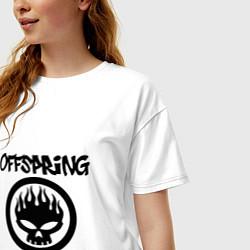 Футболка оверсайз женская The Offspring цвета белый — фото 2