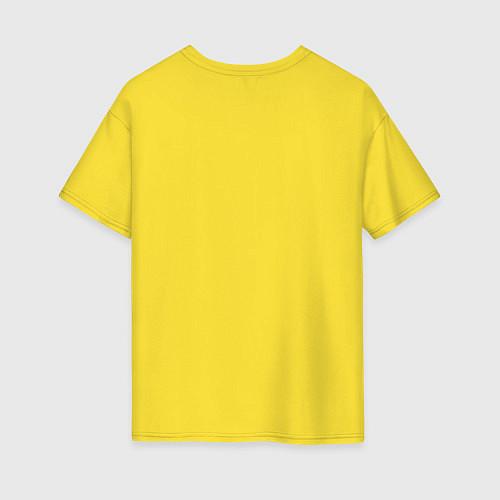 Женская футболка оверсайз Моя лучшая подруга / Желтый – фото 2