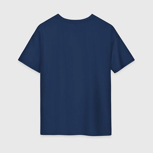 Женская футболка оверсайз Подруги навеки / Тёмно-синий – фото 2