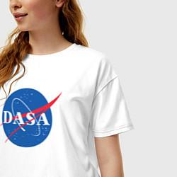 Футболка оверсайз женская NASA: Dasa цвета белый — фото 2