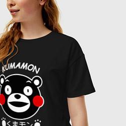 Футболка оверсайз женская Kumamon цвета черный — фото 2