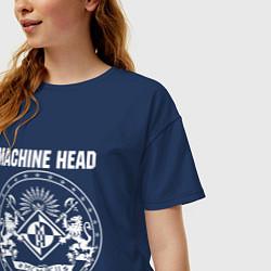 Футболка оверсайз женская Machine Head MCMXCII цвета тёмно-синий — фото 2