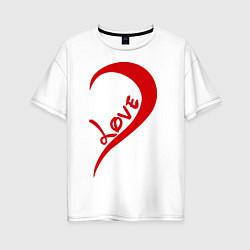 Футболка оверсайз женская One love: for him цвета белый — фото 1
