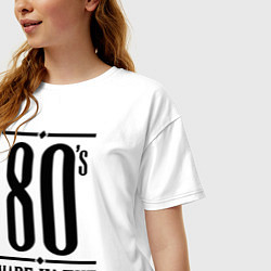 Футболка оверсайз женская Made in the 80s цвета белый — фото 2