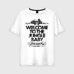 Футболка оверсайз женская Welcome to the Jungle цвета белый — фото 1