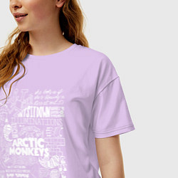 Футболка оверсайз женская Arctic Monkeys: I'm in a Vest цвета лаванда — фото 2
