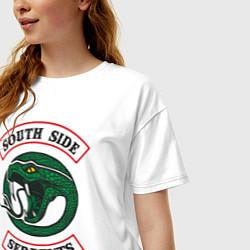 Футболка оверсайз женская SERPENTS цвета белый — фото 2