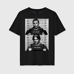 Женская удлиненная футболка с принтом Winchester Brothers, цвет: черный, артикул: 10213038705825 — фото 1
