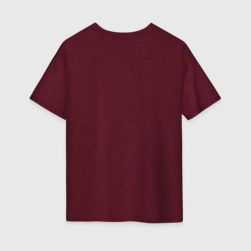 Женская футболка оверсайз Гарри Поттер / Меланж-бордовый – фото 2