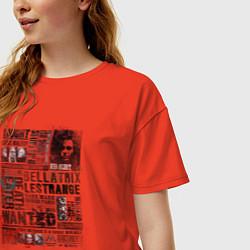 Футболка оверсайз женская Гарри Поттер цвета рябиновый — фото 2