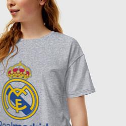 Футболка оверсайз женская Real Madrid FC цвета меланж — фото 2