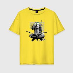 Женская удлиненная футболка с принтом One Piece, цвет: желтый, артикул: 10290252305825 — фото 1