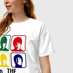Футболка оверсайз женская The Beatles: Colors цвета белый — фото 2