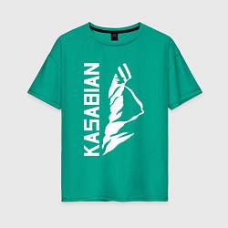 Футболка оверсайз женская Kasabian цвета зеленый — фото 1