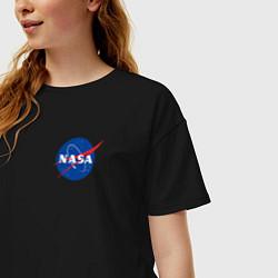 Футболка оверсайз женская NASA цвета черный — фото 2