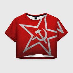 Женский топ Флаг СССР: Серп и Молот