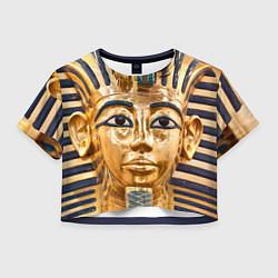 Футболка 3D укороченная женская Фараон цвета 3D — фото 1