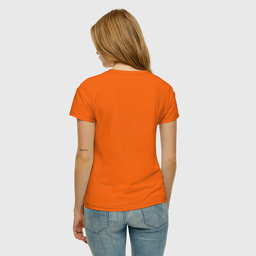 Женская футболка Made in 1995 / Оранжевый – фото 4