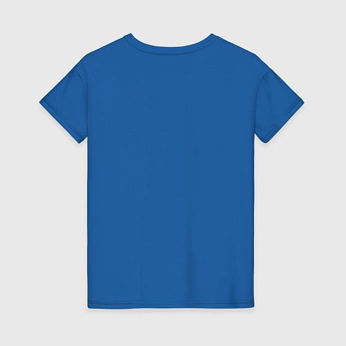 Женская футболка Сигаретки - мигаретки / Синий – фото 2