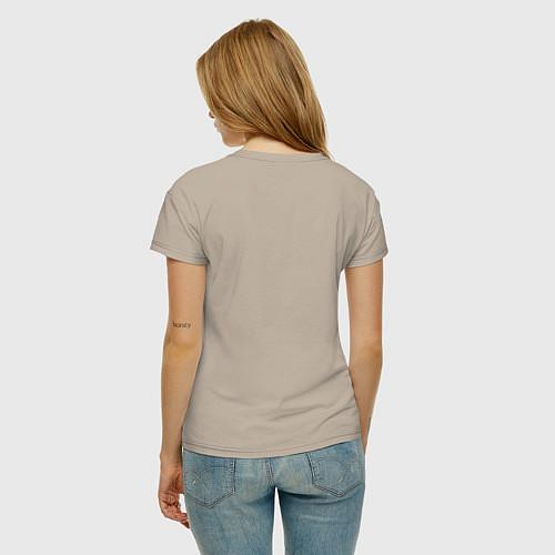 Женская футболка Со мной сложно / Миндальный – фото 4