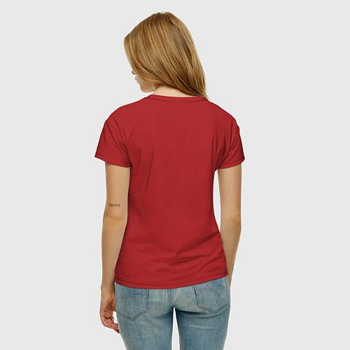 Женская футболка Мне до вас далеко / Красный – фото 4