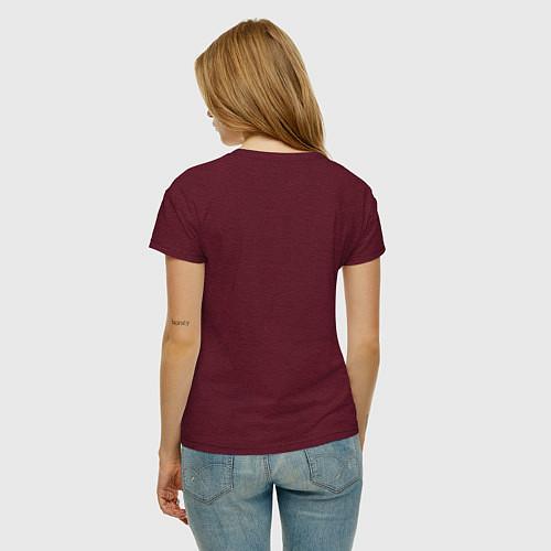 Женская футболка The Beatles Revolution / Меланж-бордовый – фото 4