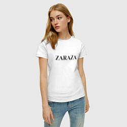 Футболка хлопковая женская Zaraza цвета белый — фото 2