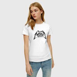 Футболка хлопковая женская Пошлая Молли: Лого цвета белый — фото 2