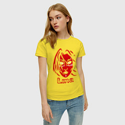 Футболка хлопковая женская Dota 2: Lina цвета желтый — фото 2