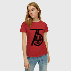 Футболка хлопковая женская The Hunger Games 75 цвета красный — фото 2