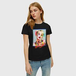 Футболка хлопковая женская Harley Quinn XX цвета черный — фото 2